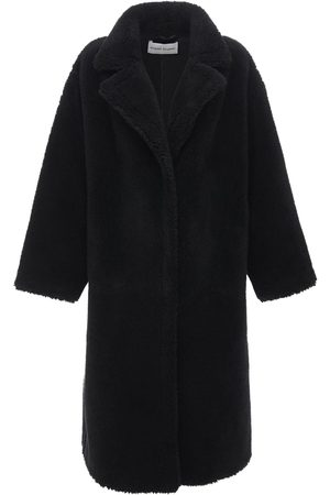 Stand Studio Women Coats - Maria Long Faux Teddy Coat