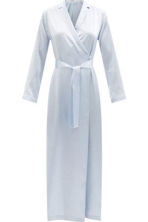 La Perla Notch-lapel Silk-satin Robe - Womens - Light
