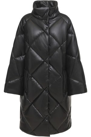 Stand Studio Women Puffer Jackets - Anissa Faux Leather Puffer Coat
