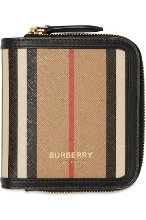 Burberry Women Wallets - Allington Icon Stripe Canvas Zip Wallet