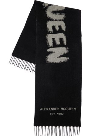 Alexander McQueen Women Scarves - Graffiti Wool Knit Scarf