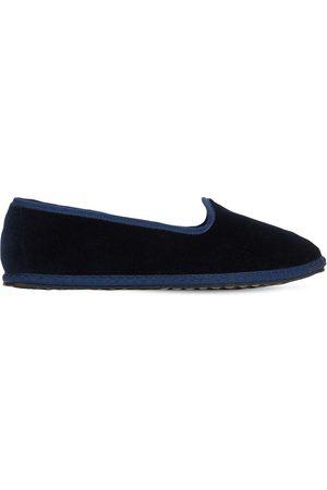 VIBI VENEZIA 10mm Blu Velvet Loafers