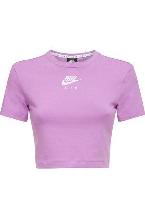 Nike Women Sports Tops - Air Cotton Blend Crop Top