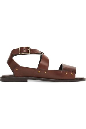 Manolo Blahnik Halias Leather Sandals