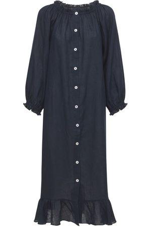 Sleeper Linen Midi Loungewear Dress