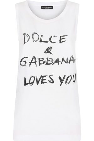 Dolce & Gabbana Slogan-print sleeveless top