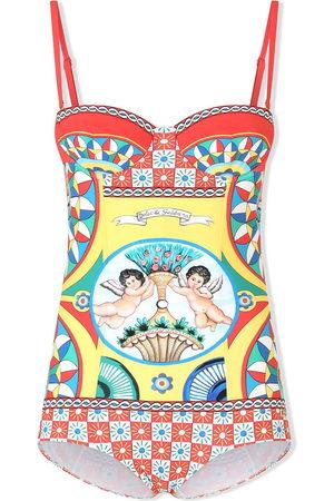 Dolce & Gabbana Graphic-print multi-panel swimsuit