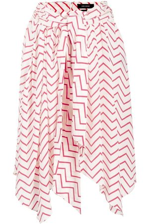 Isabel Marant Women Printed Skirts - Asymmetric geometric-print silk skirt