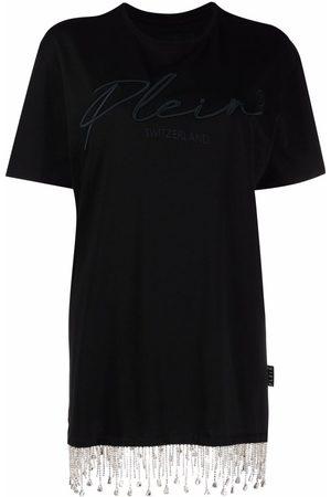 Philipp Plein Crystal fringe T-shirt dress