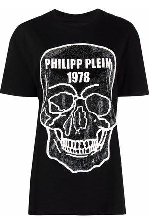 Philipp Plein Women T-shirts - Skull-embellished round-neck T-shirt