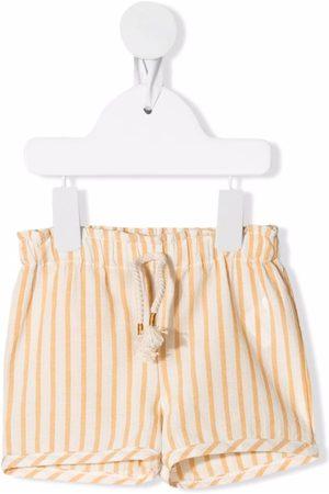 Buho Striped organic cotton-blend shorts