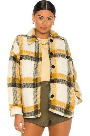 AllSaints Women Leather Jackets - Fenix Check Jacket.