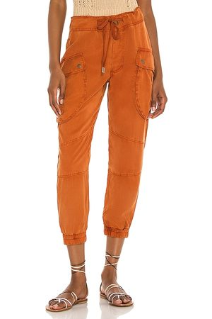 YFB CLOTHING Clyde Cargo Pant in Rust.