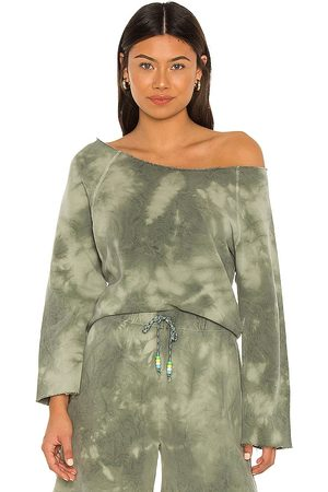 Dannijo Off Shoulder Raglan Top in Army.