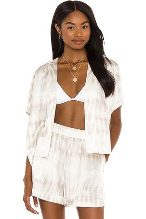 Rails Maui Top in Ivory,Light Grey.