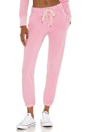 NSF Skinny Pants - Sayde Slouchy Slim Sweatpant in Baby Blue.