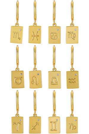 Arms Of Eve Zodiac Earrings in Metallic .