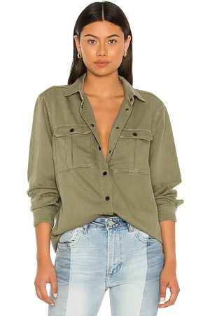 AllSaints Military Shirt in Army.