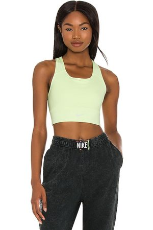 Nike Swoosh Long Line Bra in Green.