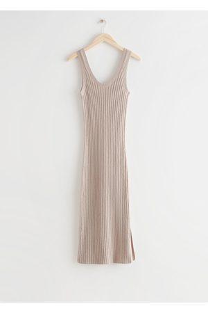 & OTHER STORIES Sleeveless Rib Knit Midi Dress