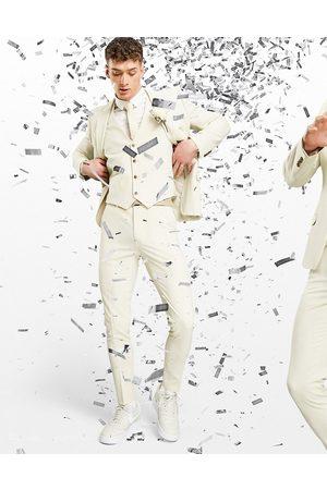 ASOS Super skinny suit pants in stone-Neutral