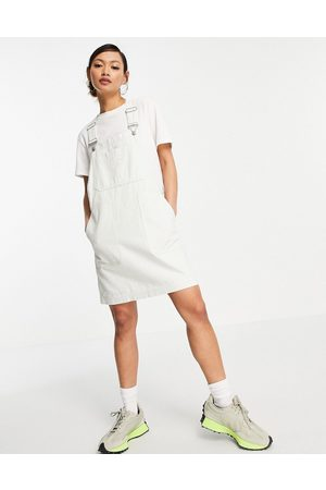 Dr Denim Overall dress in off
