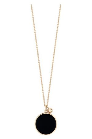 GINETTE NY Ever Onyx disc necklace