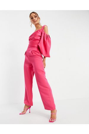 Yaura Tailored pants in hot - part of a set
