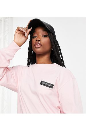 Napapijri Patch long sleeve T-shirt in baby - Exclusive to ASOS