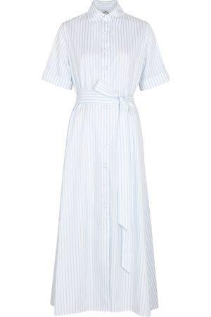 Evi Grintela Stripe-jacquard cotton shirt dress