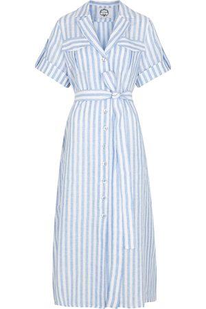 Evi Grintela Striped linen shirt dress