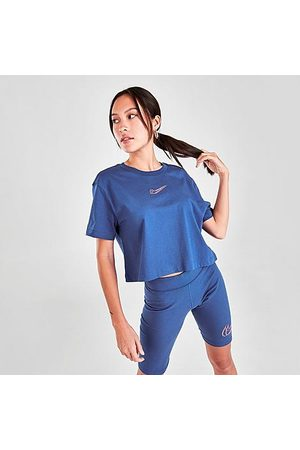 Nike Women's Sportswear Dance Crop T-Shirt in /Game Royal Size X-Small 100% Cotton
