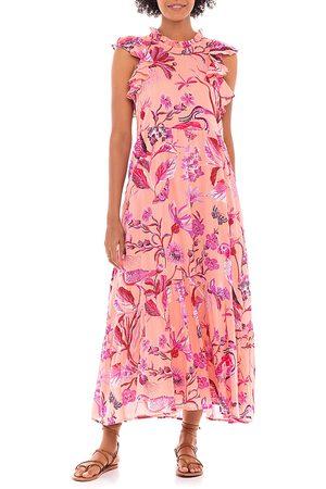 Banjanan Hanna Cotton Floral Print Maxi Dress