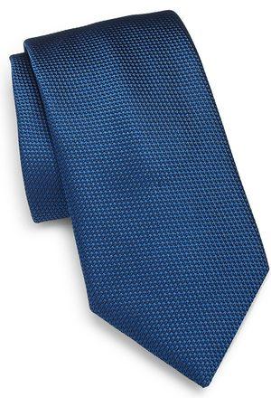Charvet Men's Micro Pattern Silk Tie - Medium