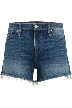 Hudson Women Sports Shorts - Women's Gemma Mid-Rise Shorts - Moon Hour - Size 28