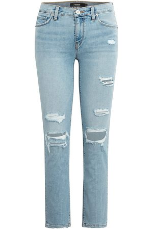 Hudson Women's Nico Mid-Rise Straight Cropped Jeans - Dawn - Size 30