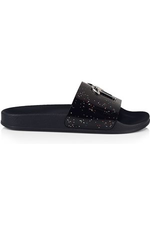 Giuseppe Zanotti Men Sandals - Men's Newburel Iridescent Splatter Leather Slide Sandals - Multi - Size 12