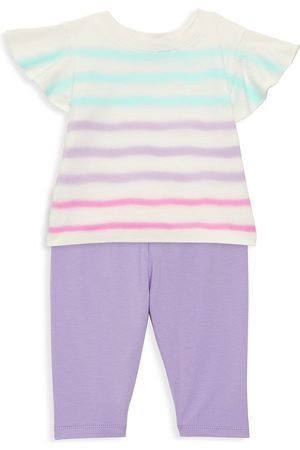 Splendid Baby Girl's 2-Piece Striped Top & Solid Leggings Set - Optic - Size 6 Months