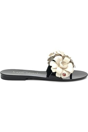 Kate Spade Women Sandals - Women's Jaylee Floral Appliqué Jelly Slides - - Size 9 Sandals