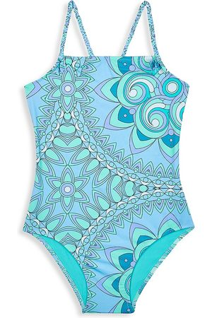 Vilebrequin Little Girl's & Girl's Mandala Abstract-Floral One-Piece Swimsuit - - Size 14