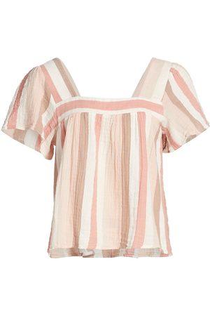 Rails Women's Savon Gauze Stripe Shirt - Cheyanne Stripe - Size XS