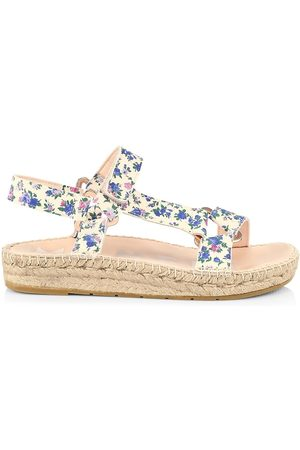 MANEBI Women's Loveshackfancy x Floral Leather Espadrille Sport Sandals - Floral - Size 9