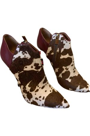 MALONE SOULIERS \N Pony-style calfskin Ankle boots for Women