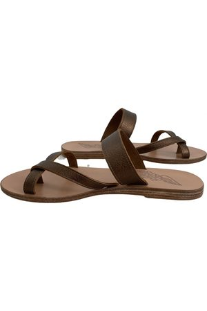 Ancient Greek Sandals \N Leather Sandals for Women