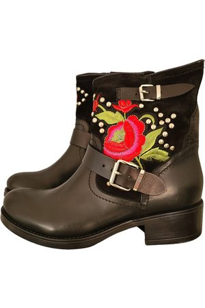 San Marina \N Leather Ankle boots for Women