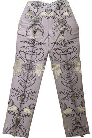 DELPOZO \N Cotton Trousers for Women