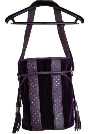 LANCEL Velvet handbag