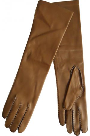 Max Mara \N Leather Gloves for Women