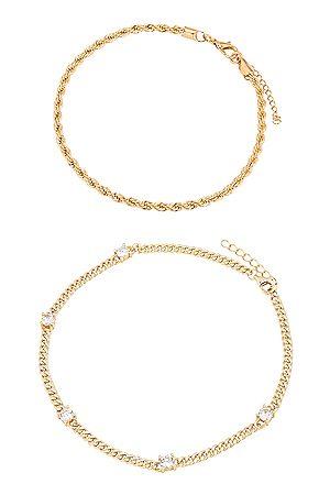 Jordan Road Jewelry The Ivy Anklet Set in Metallic