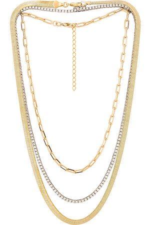 Jordan Road Jewelry Le Brunch Necklace Stack in Metallic